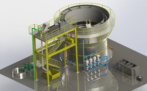 Estação de tratamento de Efluente e esgoto industrial ETE Combinada